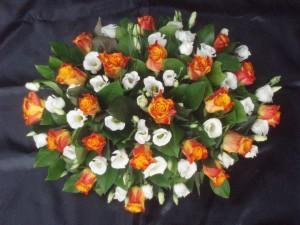 Oranje wit grafstuk